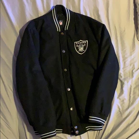 sale retailer b4687 9eeac Raiders varsity jacket